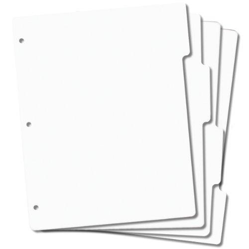 Tabbed Rubber Stamp Storage Panels 4/Pkg 8.5