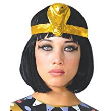 Accesorios Peluca egipcia morena