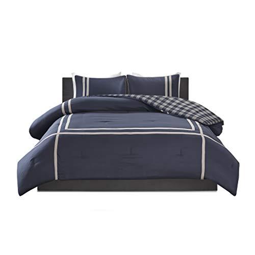 Oxford Comforter Set - Intelligent Design Oxford Reversible Comforter Set, Twin/Twin XL, Navy