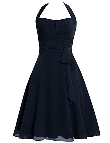 Short Bowknot Halter Dress Mint Bridesmaid Prom Formal Dresses Cdress Gowns Evening Chiffon pZ5wqxXZW