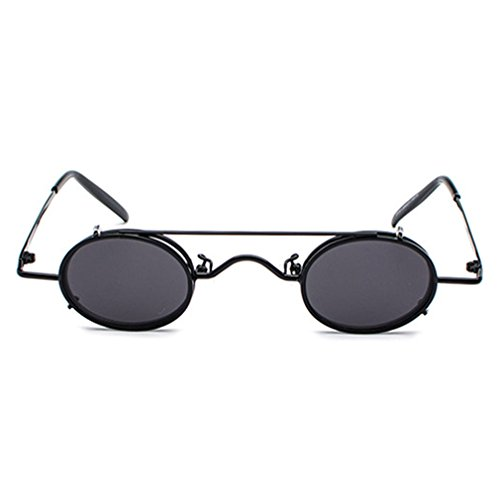 Sol Mxssi Nuevo Retro Unisex C3 Redondo Gafas Gafas Tide Ligero Pequeño Popular De Desmontables Street Prince Punk Moda Vintage wrw05