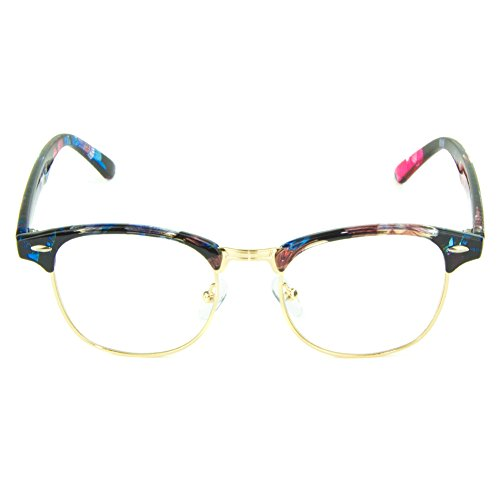 Cyxus Blue Light UV Blocking Computer Glasses, Anti Eye Strain Eyewear (Elegant Floral Print)