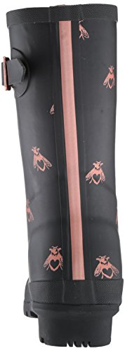 Joules Women's Mollywelly Rain Boot, Black Love Bees, 9 Medium US by Joules (Image #2)
