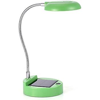 WONFAST® Portable Flexible Gooseneck 8-LED Mini Rechargeable Solar Lights Indoor Reading Book PC Lighting Table Lamp (Green)
