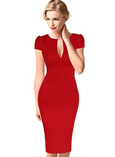 VfEmage Womens Elegant Cocktail Bodycon