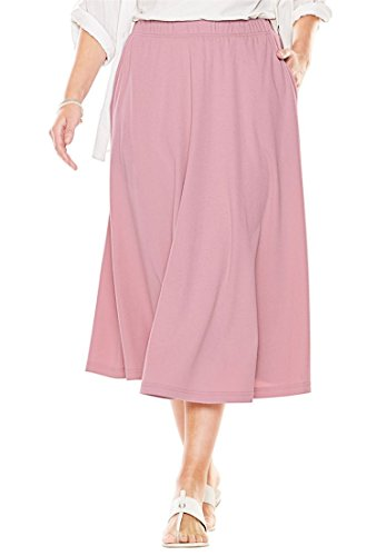 Womens-Plus-Size-7-Day-Knit-A-Line-Skirt