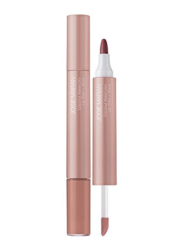 Josie Maran Coconut Watercolor Lip Stain + Shine (Full, Honeymoon Honey) (Lip Stain Plumping)
