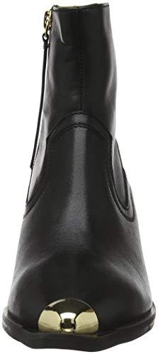Black Office Leather Bottines Acoustic 00078 Black Femme q1f0pT