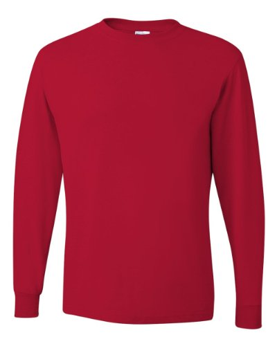 Jerzees Men's Heavyweight Blend 50/50 Long Sleeve T-Shirt (True Red, ()