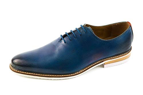 043 Stringate OF CLASS SHOES Blu Scarpe Blu amp; HAMILTON MELVIN MH Uomo MH16 HAND MADE wxYfqnzCP