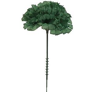 "Larksilk Emerald 3.5"" Silk Carnation Flowers 5"" Stem 100 Count 69"