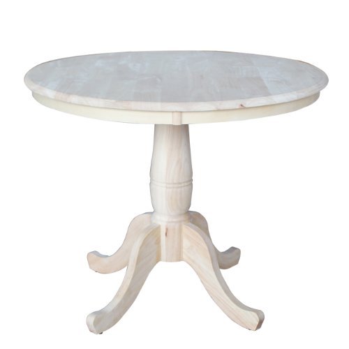 International Concepts Round Top Pedestal Table, 36-Inch