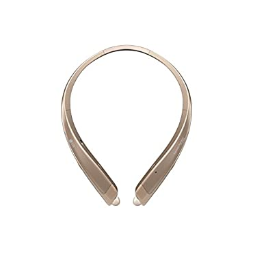 LG TONE Platinum HBS-1100 Headset In-Ear Behind-The-Neck Mount Wireless Headphones Gold