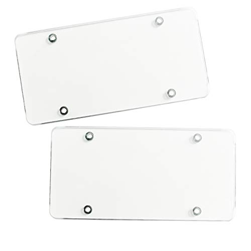 Clear Unbreakable License Plate Shields product image