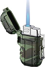 Lighters Outdoor Adventure Lighter Windproof & Waterproof Jet Butane Turbo Lighters Torches Lighters Cigar
