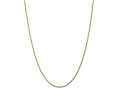 Finejewelers 14k 1.75mm Bright Cut Rope with Lobster Clasp Chain Ankle Bracelet