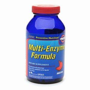 GNC Nutrition préventive Multi-Enzyme Formula, Vegetarian Capsules, 180 ch