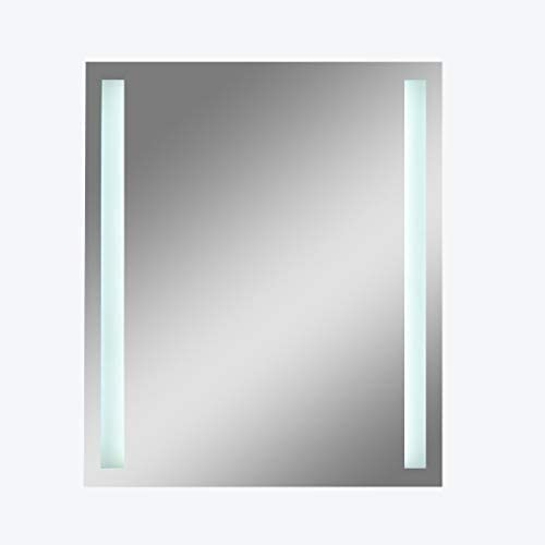 BLXFN 照明付きの鏡スマートな壁に取り付けられたLEDバスルームの鏡、光の鏡、HD
