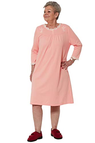 Ovidis Nightgown for Women - Pink   Sandy   Adaptive Clothing - L