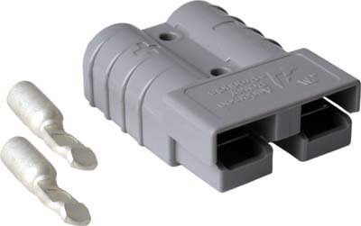 EZGO-Gray-SB50-With-6g-Contacts-CART-SIDE-Charger-Plug-Receptacle-83-94-Marathon-Electric-Golf-Cart