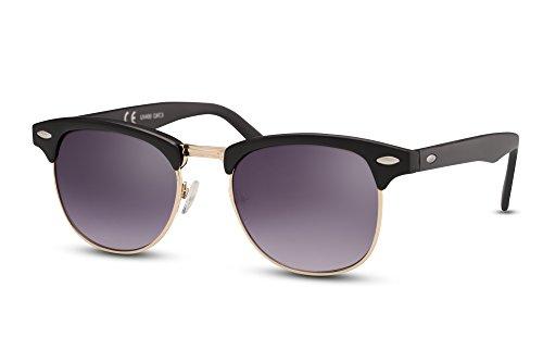 Clubmaster Retro Negro Gafas de Espejados Sol Hombre 001 Mujer Cheapass Variación Ca qtUXwgPat