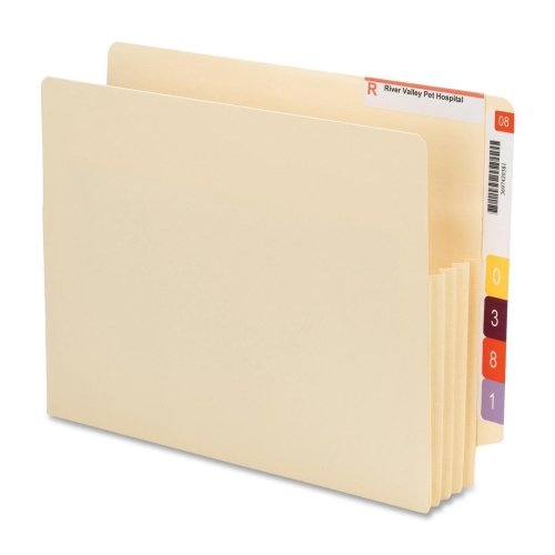Wholesale CASE of 10 - Smead Convertible End-tab File Pockets-File Pockets, End Tab Conv, Ltr, 3-1/2'' Exp, 10/BX. MLA