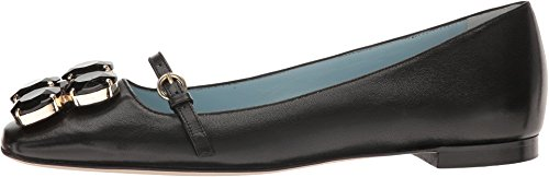 Frances Valentine Womens Josephine Black Metallic Kid