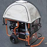GenTent 20K Rain/Wet Weather Safety Canopy for Generac GP15000/GP17500 Generators (Tan Light)