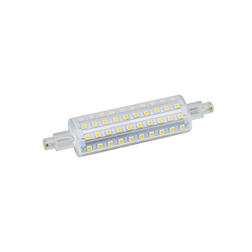 Landlite LED L118 R7s base, J-type 118mm linear halogen replacement, 120V 8W 1000lm, warm white, Omni directional for Wall sconce