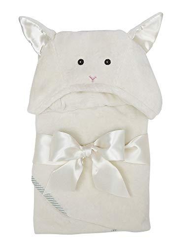 """Bearington Baby Lamby Lamb Creamy White Hooded Bath Towel 24"""" x 24"""""""