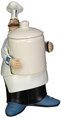 Fat Chef Kitchen Bistro Cooking Holding Cookie Jar (Chef Cookie Jar)