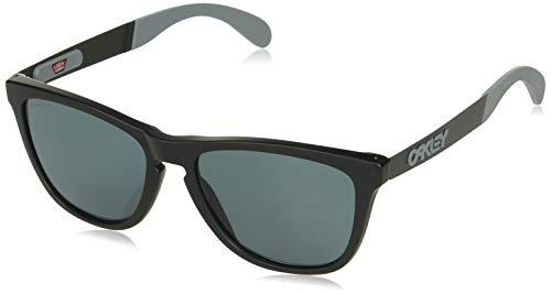Oakley Men's OO9428 Frogskins Mix Round Sunglasses, Matte Black/Prizm Grey, 55 ()