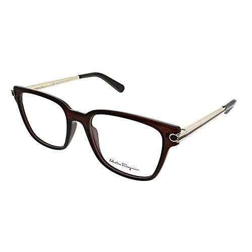 Salvatore Ferragamo SF 2773 210 Brown Plastic Square Eyeglasses 52mm