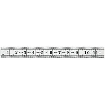 1//32 Thickness Starrett 471 Steel Folding Rule With Circumference Measurement 3//4 Width 24 Length