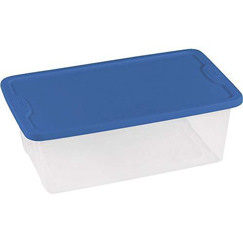 Homz Products/Storage 6Qt Clear Storage Tote 3206CLBL.10 Uni