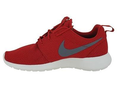 Amazon.com | Nike Roshe Run Rosherun Red Grey Sail Mens Sportwear Running  Shoes 511881-601 [US size 13] | Running