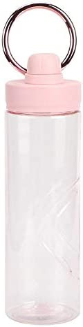 HERCHR Workout waterfles voor vrouwen 600ml draagbare waterbeker voor buiten thuisgebruik met handvat roségoud