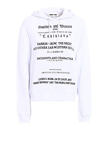 By Mcqueen 451438rih349000 Blanc Coton Mcq Sweatshirt Alexander Femme dEwOdHq