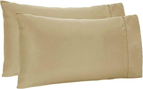 AmazonBasics Light-Weight Microfiber Pillowcases - 2-Pack, Standard, Sage