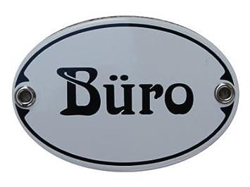 Amazon De Turschild Buro Emaille Schild Jugendstil 7 X 10 5 Cm