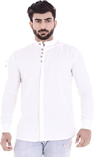 DUENITE Men #39;s Solid Slim Fit Formal/Party Shirt