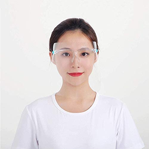 Sangras 100pcs Protective Safety Face Shield Protect Eyes and Face with Shield Compatible Glasses for Classroom Lab Home and Workplace