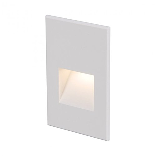 Vertical Step Light - WAC Lighting 4021-27WT WAC Step & Wall 5 inch Ledme 12V Vertical Step & Wall Light 2700K Warm White in WhiteWhite