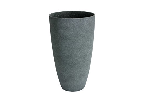 Algreen 43229 Tall Curved Vase Planter, Weathered Grey ()