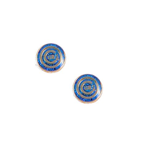 - aminco Chicago Cubs Glitter Sparkle Post Stud Logo Earring Set Charm Gift