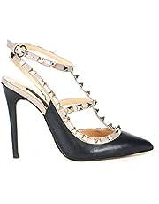 Rouge Deri Uzun Topuklu Kadın Gece Abiye Ayakkabı 32236-R1