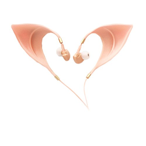 Hobbit Dwarves Costumes (Elf Ear In-Ear Headphones Elves Earbuds Ultra Soft Costume Fairy Pointy Ear For Cosplay Makeup Party Toy Accessory EF00002)