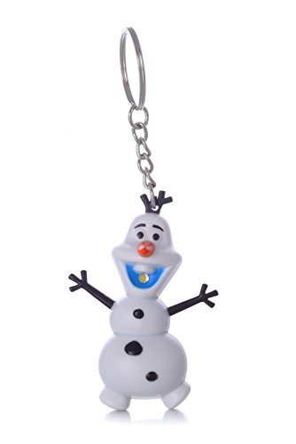 Price comparison product image REINDEAR Disney Movie Frozen Snowman Olaf LED Light Up Flashlight Keychain w/ Sound (I Love You) US Seller