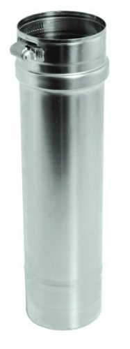 DuraVent FSVL2404 Stainless Steel FasNSeal 24 Inch Single Wall Length of 4 Inch Diameter FasNSeal Pipe From the FasNSeal Series