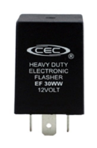 Wiring Relay Flasher (CEC Industries EF30WW Electronic Wig-Wag Alternating Flasher Relay, 3 Prongs, 12 Volts)